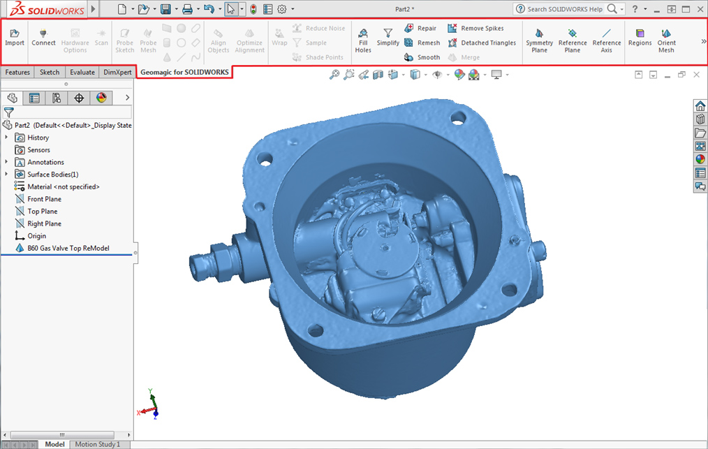 Geomagic for SOLIDWORKS | GoMeasure3D