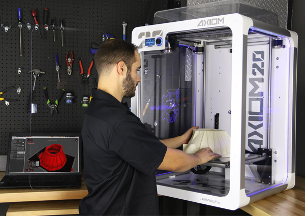 Axiom 20 3D printer in action
