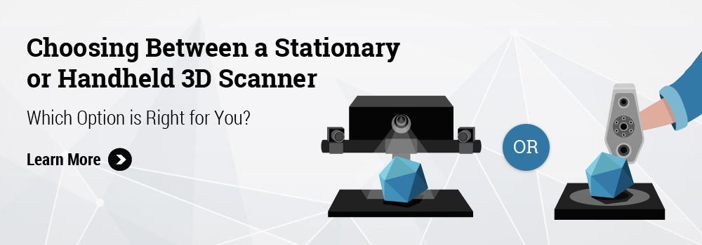 Handheld or stationary 3D Scanner