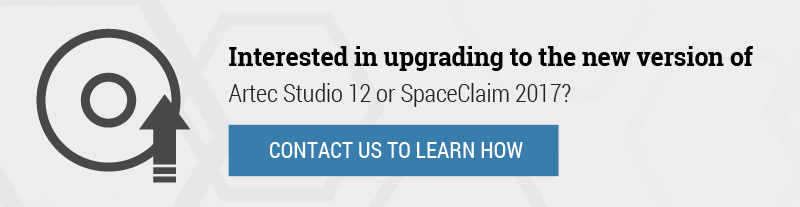 Artec Studio or SpaceClaim 2017 Software Upgrade