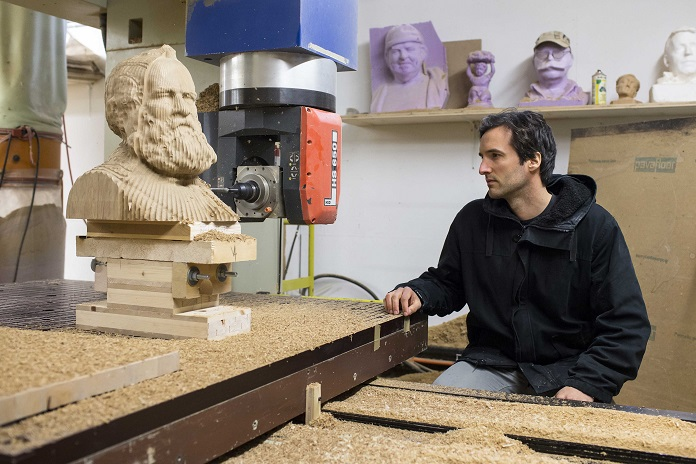 CNC milling of the sculpture