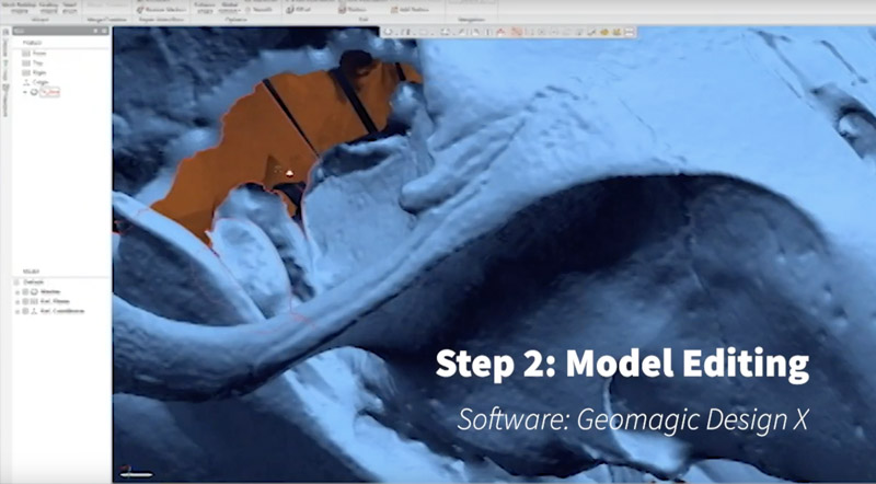 Model editing with Geomagic Design X