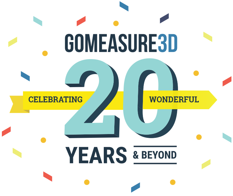 Celebrating GoMeasure3D 20 Years