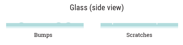 glass inperfection graphic