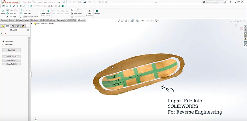import scan file into SOLIDWORKS
