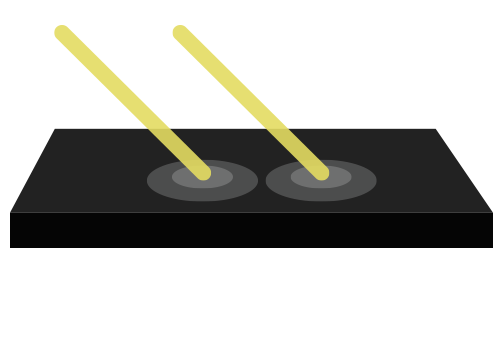 Dark or Black Surfaces